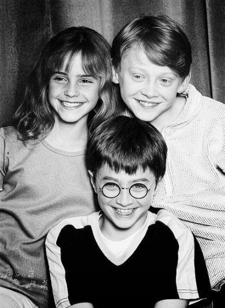 Emma Watson, Rupert Grint and Daniel Radcliffe. Golden Trio