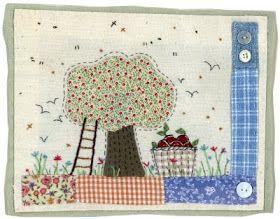 Sharon Blackman: Folksy flowers & apples!