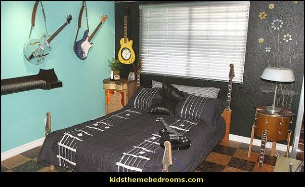 Best 25 music theme bedrooms ideas on pinterest music themed rooms music themed nursery and - Guitar decorations for bedroom ...
