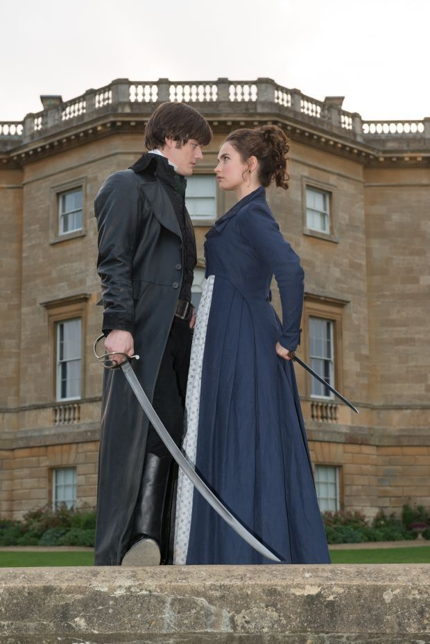 Lily James/Elizabeth and Sam Riley/Mr. Darcy (Pride and Prejudice and Zombies)