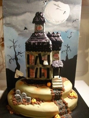 Top Haunted House Cakes - Top Cakes - Cake Central