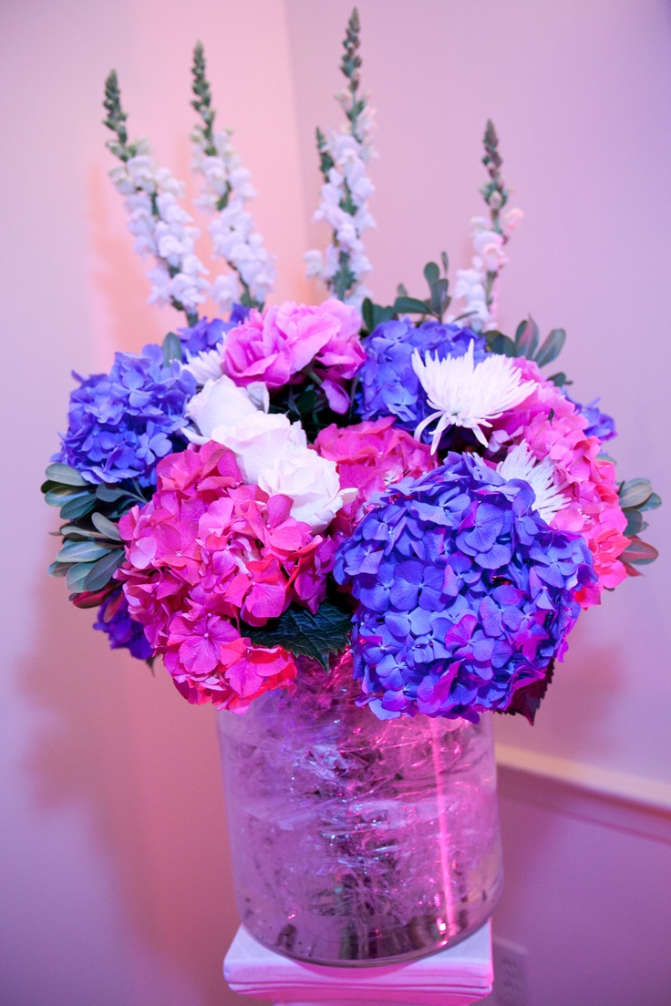 17 best images about our pink and blue beach wedding for Floral arrangements for wedding reception centerpieces