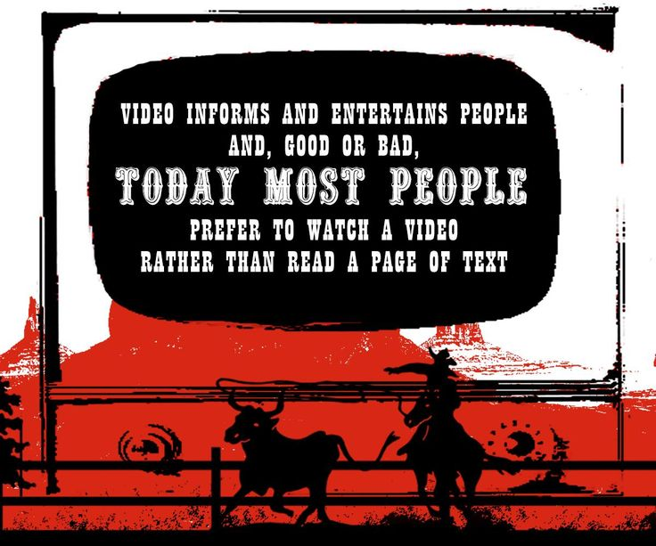 Video informs and entertains people and, good or bad, today most people prefer to watch a video rather than read a page of text.. Animation Cowboy Studios.