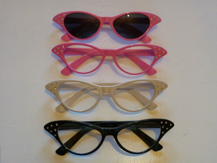 GREASE PINK LADIES 50'S STYLE NOVELTY FANCY DRESS GLASSES HEN PARTY | eBay #50sparty #sockhop #partycheap