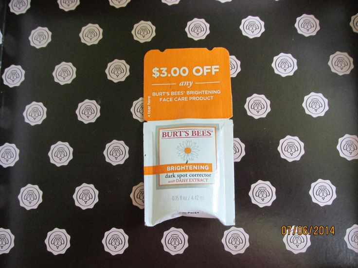 Burt's Bees Dark Spot Corrector Deluxe sample with $3.00 off coupon (exp 12/14)