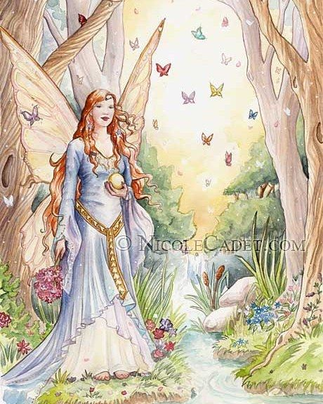 Happy Fairy Day (June 24) #fairyday #junefae # butterflies #woods #watercolor #watercolours