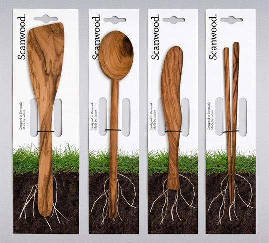 this is cool. the design of the package makes the utensils look even more natural and emphasizes that fact. simple. modern. an all natural is definitely the way to go these days.