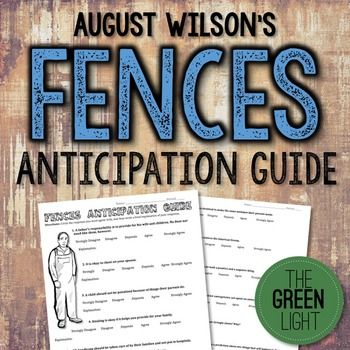 best wilson fences ideas fences by  fences by wilson anticipation guide critical thinki