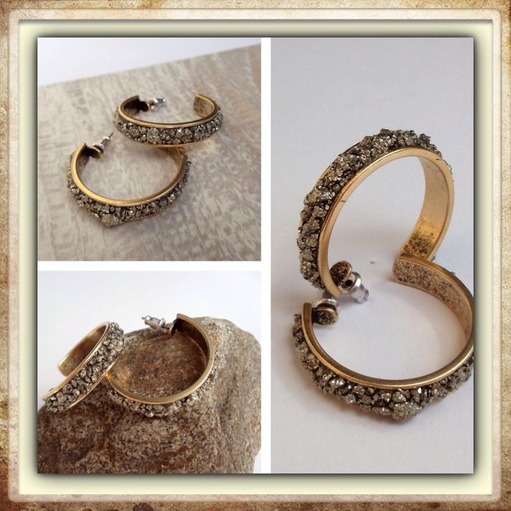 New Post Hoop Earrings with Deep Pyrite @marlymoretti. So impressive! #posthoopearrings #deeppyrite #smallbutimpressive