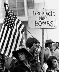 the hippie movement of the 1960s The anti-war movement began mostly on  this minority included many students as well as prominent artists and intellectuals and members of the hippie movement,.