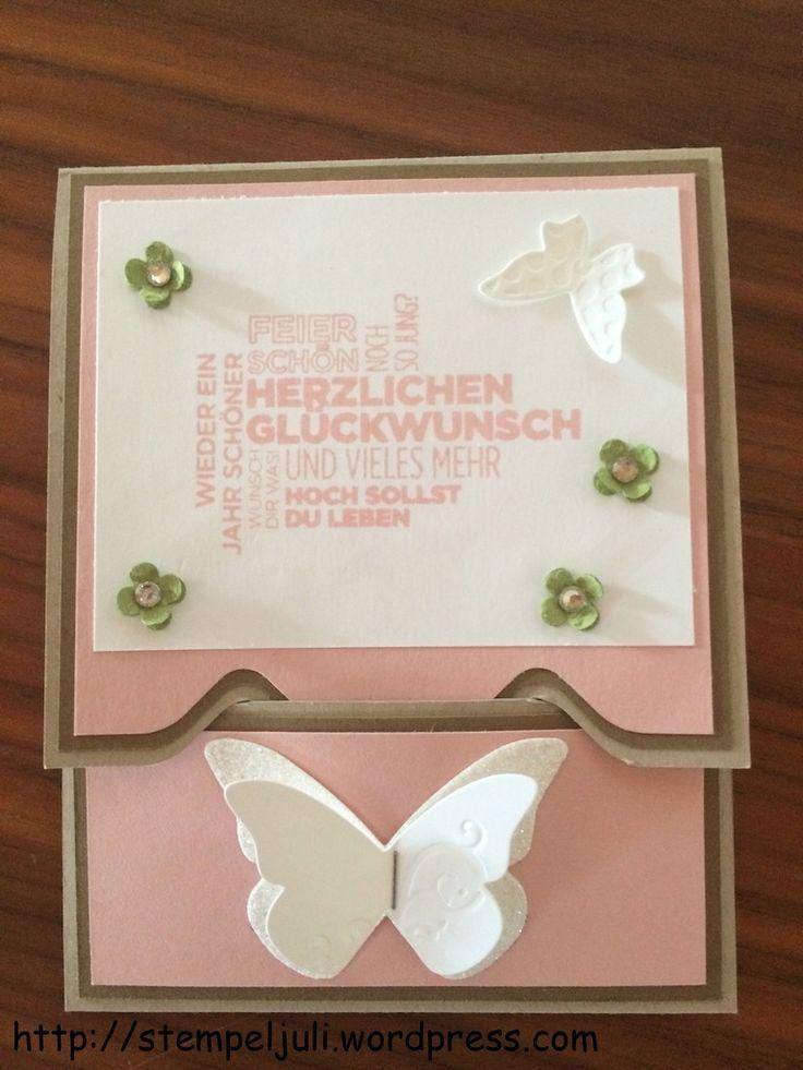 Stampin Up Gutscheinkarte Envelope punch board Stanz- und Falzbrett Kleiner Wunscherfueller Ein duftes Dutzend