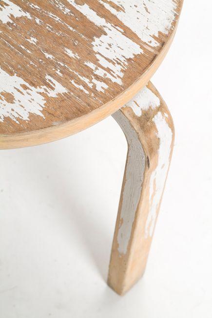 White + Wood.   Aalto stool