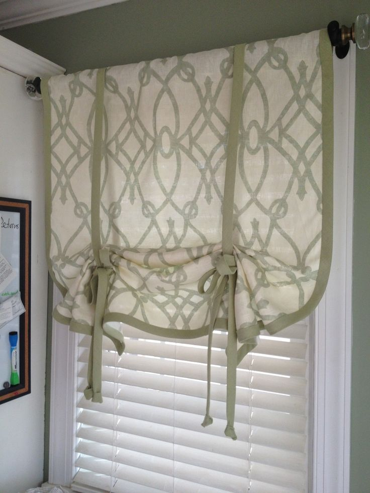 Pics On How to Make a No Sew Window Curtain Shade