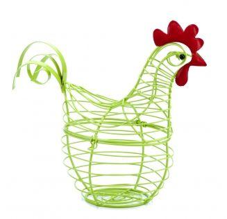 Koszyk metalowy zamykany kura rozm.18x20x9cm.