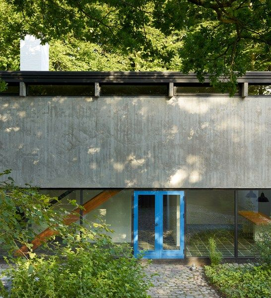 The modernist home of architect Knud Friis near Aarhus.