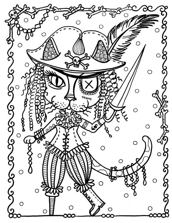 Coloring Book Fantasy Cats Be The Artist 8 X 10 Full Size Spiral Bound Book For Cat Lovers Of