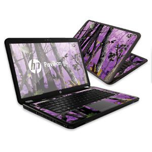 Skin-Decal-Wrap-for-HP-Pavilion-G6-sticker-15-6-screen-Purple-Tree-Camo