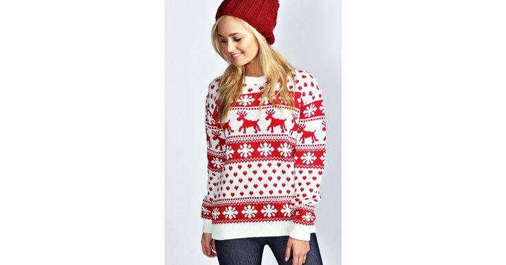 Boohoo Weihnachtspullover im Norweger-Stil (21 €)