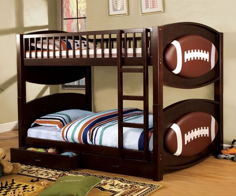 A Perfect Football Themed Bunk Bed For The Perfect Football Fan.