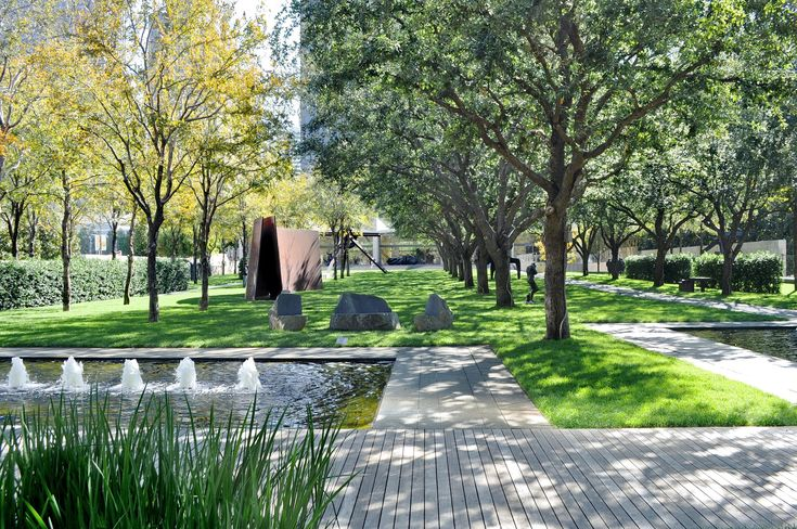 Exterior gardens by PWP Landscape Architecture in Nasher Sculpture Center by Renzo Piano