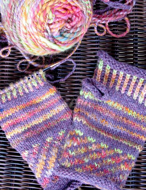 Knitting Daily Tv Patterns : Simple Colorwork Mitts from Knitting Daily TV Color ...