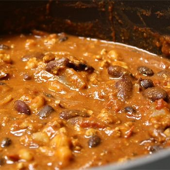 Super Peanut Butter Chili.....I have actually made a variation of this...it is FABULOUS....definitely a comfort food.