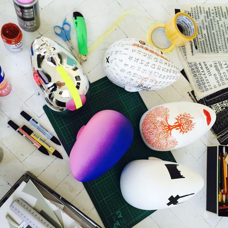 FUSION Collection by More Mannequins / work in progress #FemaleMannequins #mask #illustration #flowerpattern #art #atelier