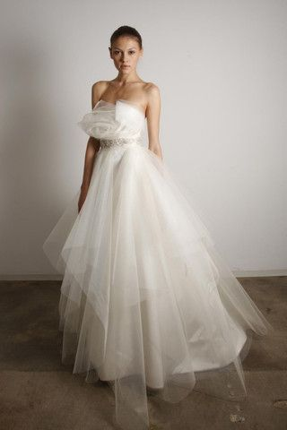 Marchesa Tulle Rosette Princess Gown - Nearly Newlywed Wedding Dress Shop