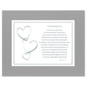 Matted Poem For Newly Blended Families Beautiful Keepsake Gift Http Www