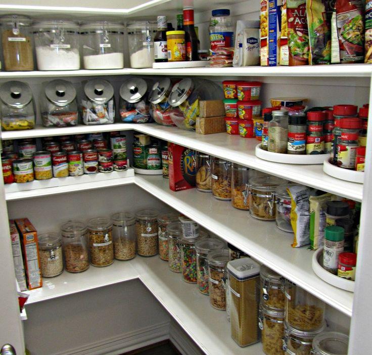 Shelves going round corner