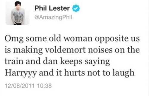 This makes me laugh XD I can see Dan doing that and Phil laughing like crazy beside him.