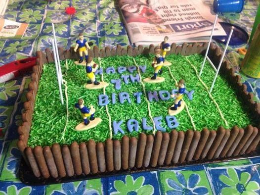 Rugby League football game cake