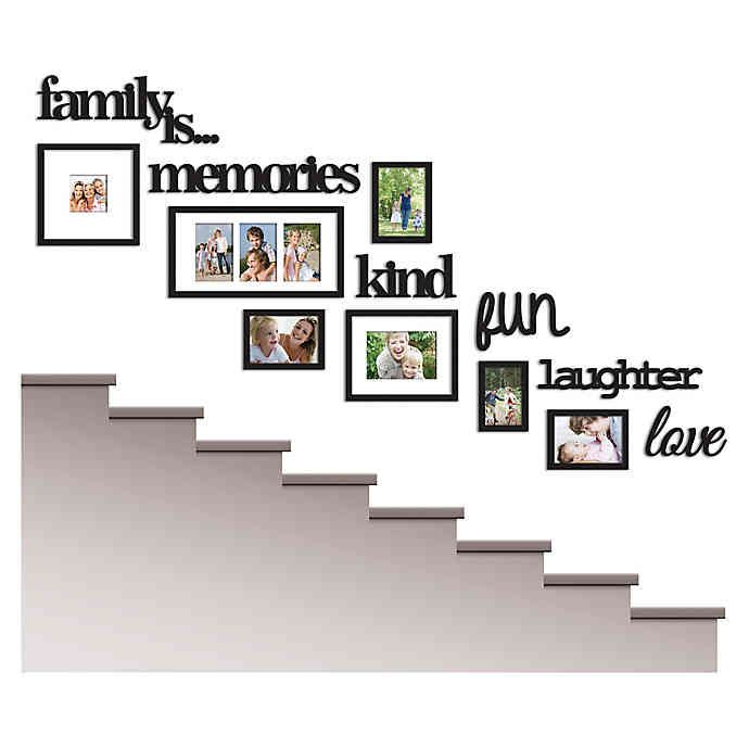 Wallverbs 13 Piece Family Is Photo Frame Set In Satin Black Bed Bath Beyond Family Tree Photo Frame Picture Frame Wall Family Tree Wall Pictures