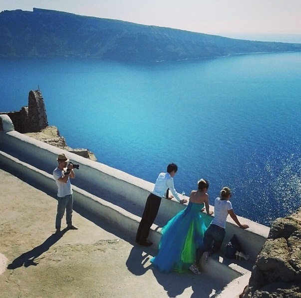 With Promise & Stanley in the castle of Oia! @Sunrise Greece