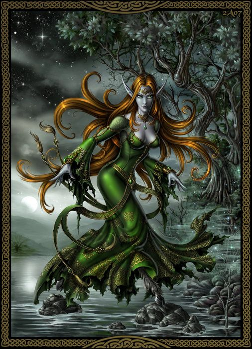 """The banshees are Irish fairies of death, from legends and Celtic mythology. Its name means """"fairy woman"""" and """"woman of the hills"""", because sometimes appears walking wandering through the hills, where he remained even several days without fixed direction. His appearance is that of an ethereal woman, sometimes a young maiden, and in others, an old and nasty witch. The banshees announced with his tears and his cry that death is near. His singing is loud and frightening, sometimes is a horrible…"""