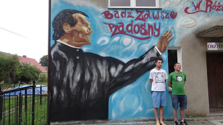 religia , plebania , ksiądz Bosko , graffiti na plebanii .