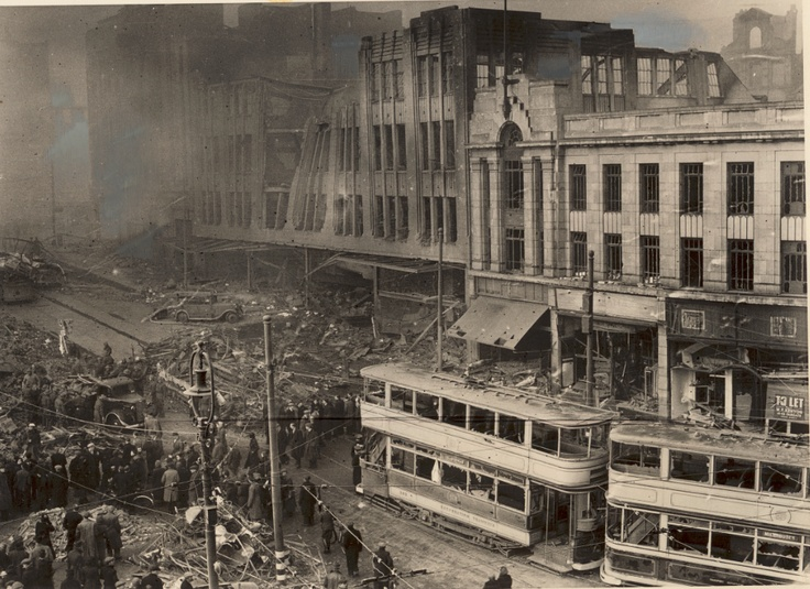 CNA 1940: During the Second World War, 25 of our 55 stores were destroyed. The picture shows our destroyed store in Sheffield, England. #socialsheffield #sheffield
