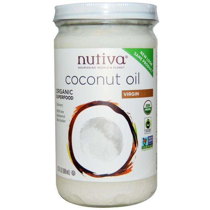 Nutiva, Organic Coconut Oil, Virgin, 23 fl oz (680 ml) - iHerb.com 13.3 usd