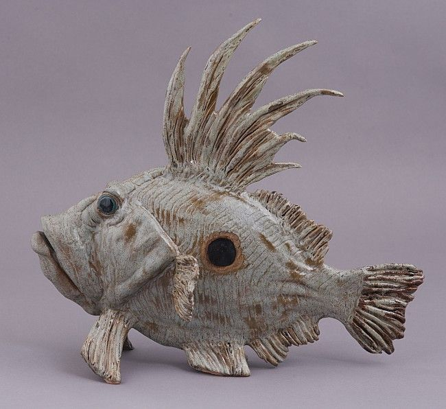 """""""Big Kahuna"""" John Dory fish sculpture from Out of the Blue Ceramic Studio"""