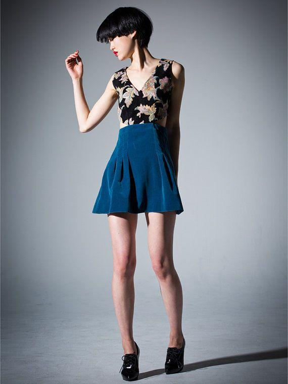 Jacquard and Velvet Dress  Royal blue // by DRESSbyEnlee on Etsy