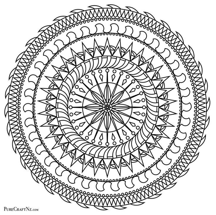 New Colouring Mandala!