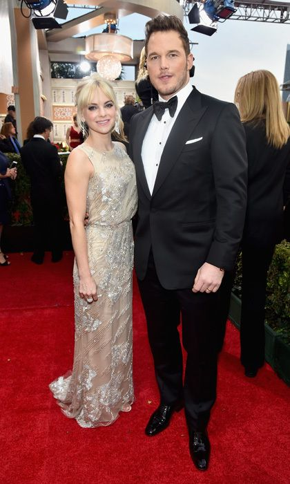 Anna Faris and Chris Pratt  Comedienne Anna Faris and her husband of more than five years, 'Guardians of the Galaxy' star Chris Pratt, definitely know how to have fun on the red carpet. The pair was spotted cracking up while making their way into the awards show. Photo: © Getty Images