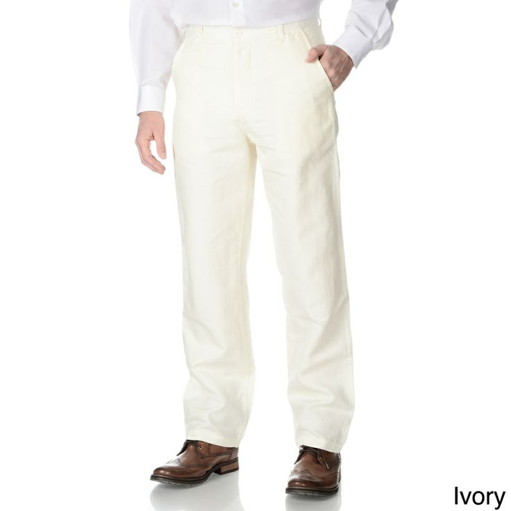 Numerio Men's M120 Suit Separate Linen Pants | Overstock.com Shopping - The Best Prices on Suit Separates
