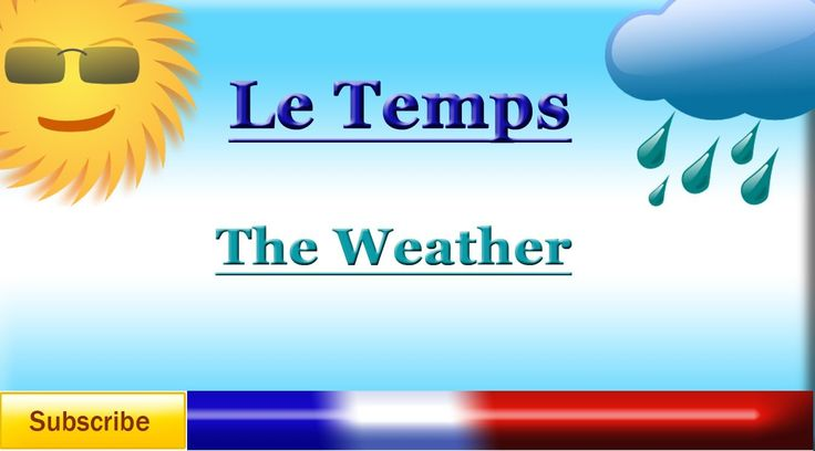 French Lesson 47  Learn French  Talk About The Weather  Le Temps  La  Frances  French