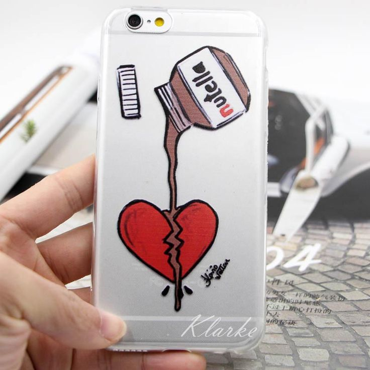 Cute Tumblr Nutella Design Transparente Silicone Case Cover For iPhone 6 6s 6plus Cell Phone Cases