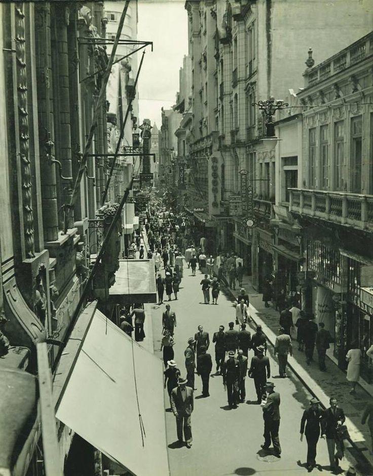 Rua São Bento, década de 1940.