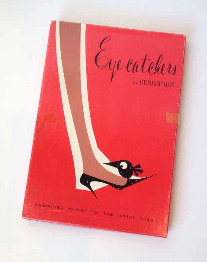 Vintage Pantyhose 1950s nylons Box Eyecatchers by Berkshire in package Junior Miss Stockings Tights by SissyBoomsPartyRoom on Etsy
