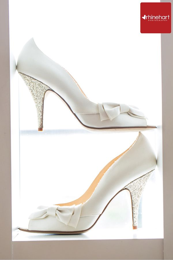 Kate Spade wedding shoes-- silver sparkle, simple, white, Four Seasons Baltimore Wedding Photographer