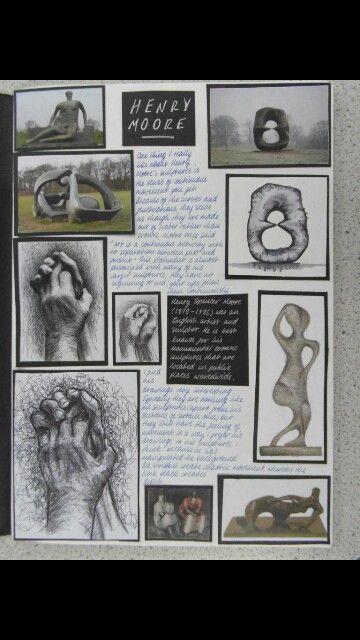 Henry moore artist study sketchbook