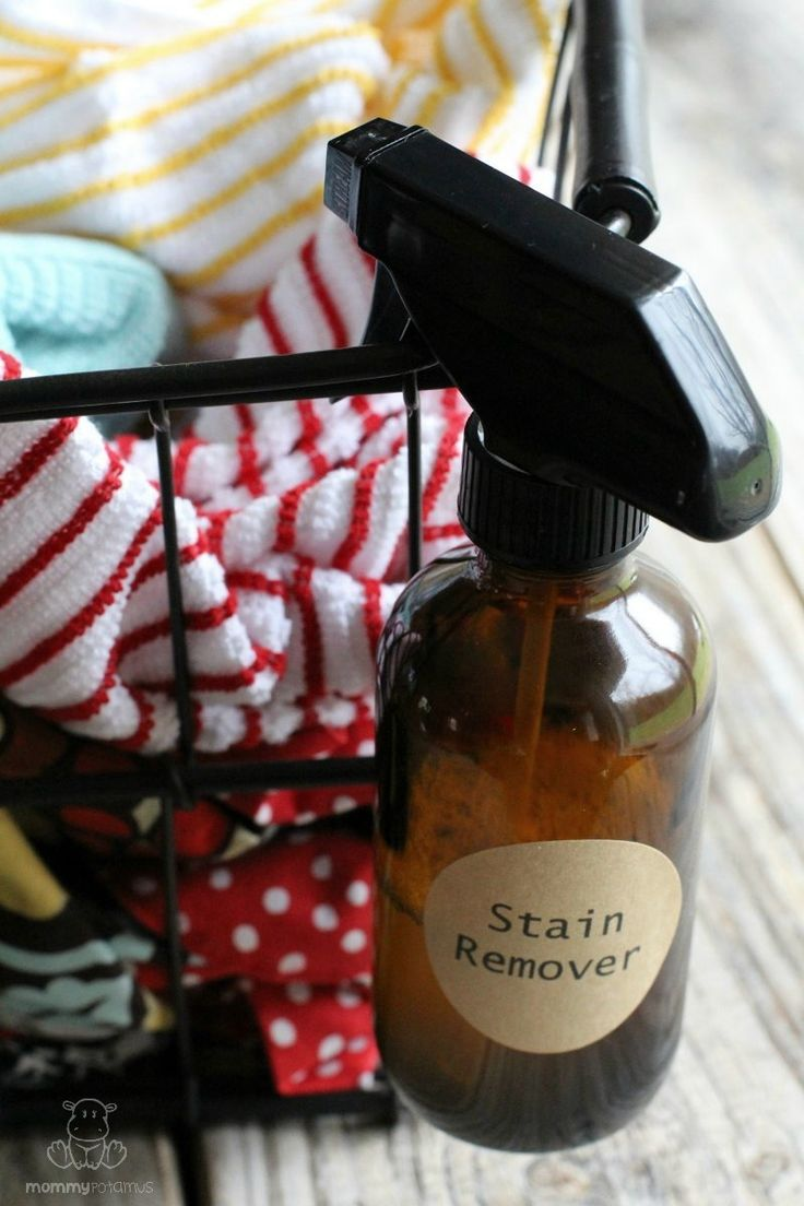 Wow! The before and after photos tell it all ... Homemade all-natural stain remover for your laundry!